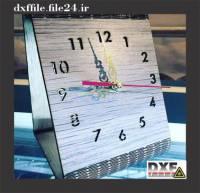 فایل DXF ساعت رومیزی فنری