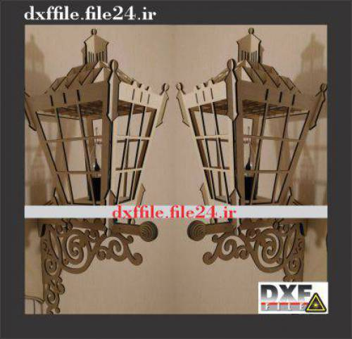 فایل DXF چراغ دیواری